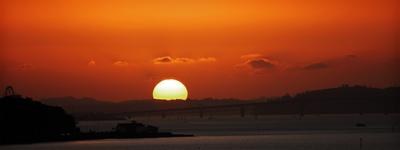 harbour bridge sunset